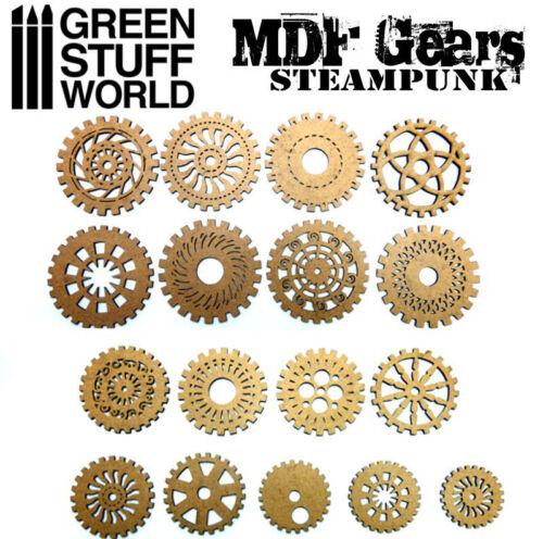 laser cut modelling jewelry figures miniatures MDF WOOD Steampunk GEARS