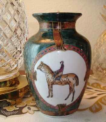 Vintage Chinese Equestrian Vase - WBI - Excellent Condition!