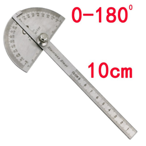 0-180° Stainless Steel Protractor Angle Meter Ruler For Construction Woodwork*#