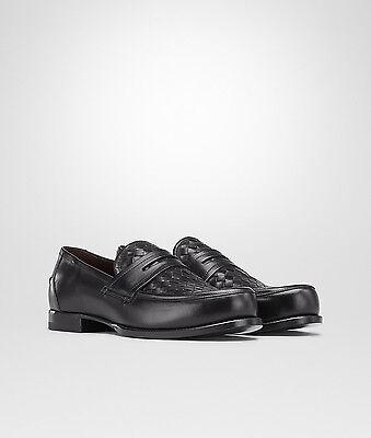 NEW Bottega Veneta Mens Leather Woven Loafer Shoes BLACK 9.5US 325925 VBFV1 $890