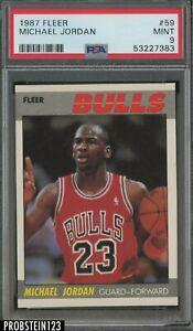 1987 Fleer Basketball #59 Michael Jordan Chicago Bulls HOF PSA 9 MINT