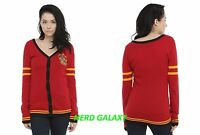 Harry Potter Gryffindor Juniors Xl Cardigan Red Button Sweater, Licensed