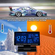 Lcd Digital Car Clock Thermometer Hygrometer Weather Forecast Temperature Alarm