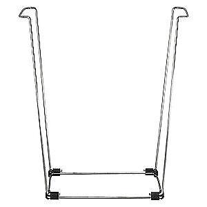 """BB99193 BAG BUDDY Portable Bag Holder,Steel,16/"""" L x 14/"""" W Silver"""