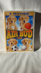 AIR-BUD-4-FEATURES-DVD-Golden-World-Pup-7th-Inning-Spikes-Back-NEW
