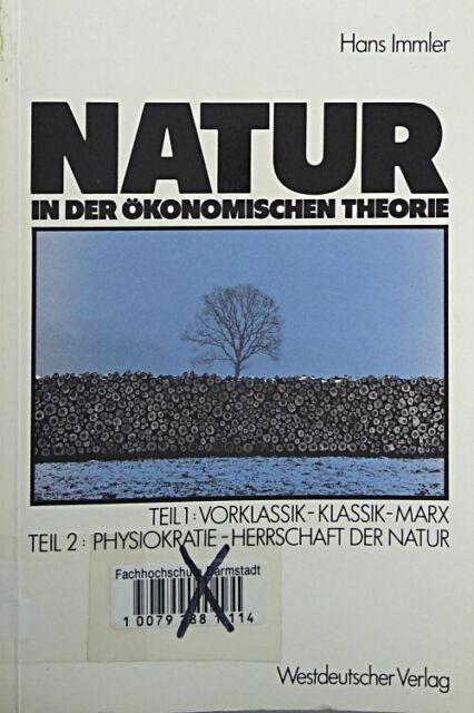 Natur in der okonomischen Theorie (German Edition) von Immler, Hans