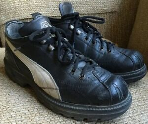 Details about PUMA RUDOLF DASSLER Boots Low Top Black & White Chunky Lifts Shoes Men's 9 UK 8