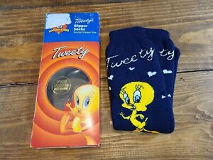 Vintage-Looney-Tunes-Tweety-Bird-Adult-Slipper-Socks-1997-NEW
