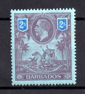 Barbados-1912-2-purple-amp-blue-mint-MH-SG179-WS17817