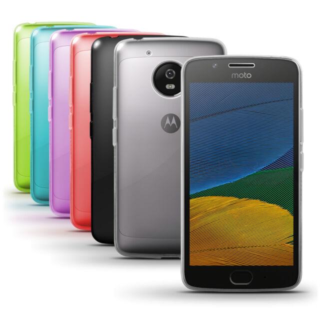 Etui Gel TPU Housse Coque pour Motorola Moto G5 Case Cover + Film de Protection