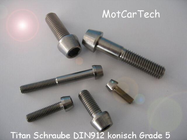 Titan Schraube M6 x 10 bis 60mm DIN912 konisch Grade 5