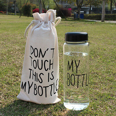Portable 500ML Fruit Juice Water Cup Transparent My Bottle Sports Travel Bottle