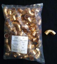 12 In Copper 90 C X C Sweat Solder Pressure Plumbing 50 Pack New
