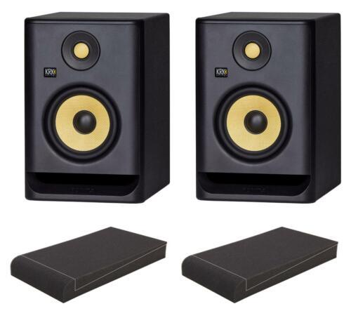 "KRK ROKIT RP5 G4 Set Studio Monitor Paar Aktiv 5,25/"" 2-Wege 55W DSP EQ Dämmkeile"