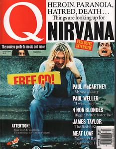 Q UK Magazine October 1993 Nirvana Kurt Cobain Paul McCartney 072020AME