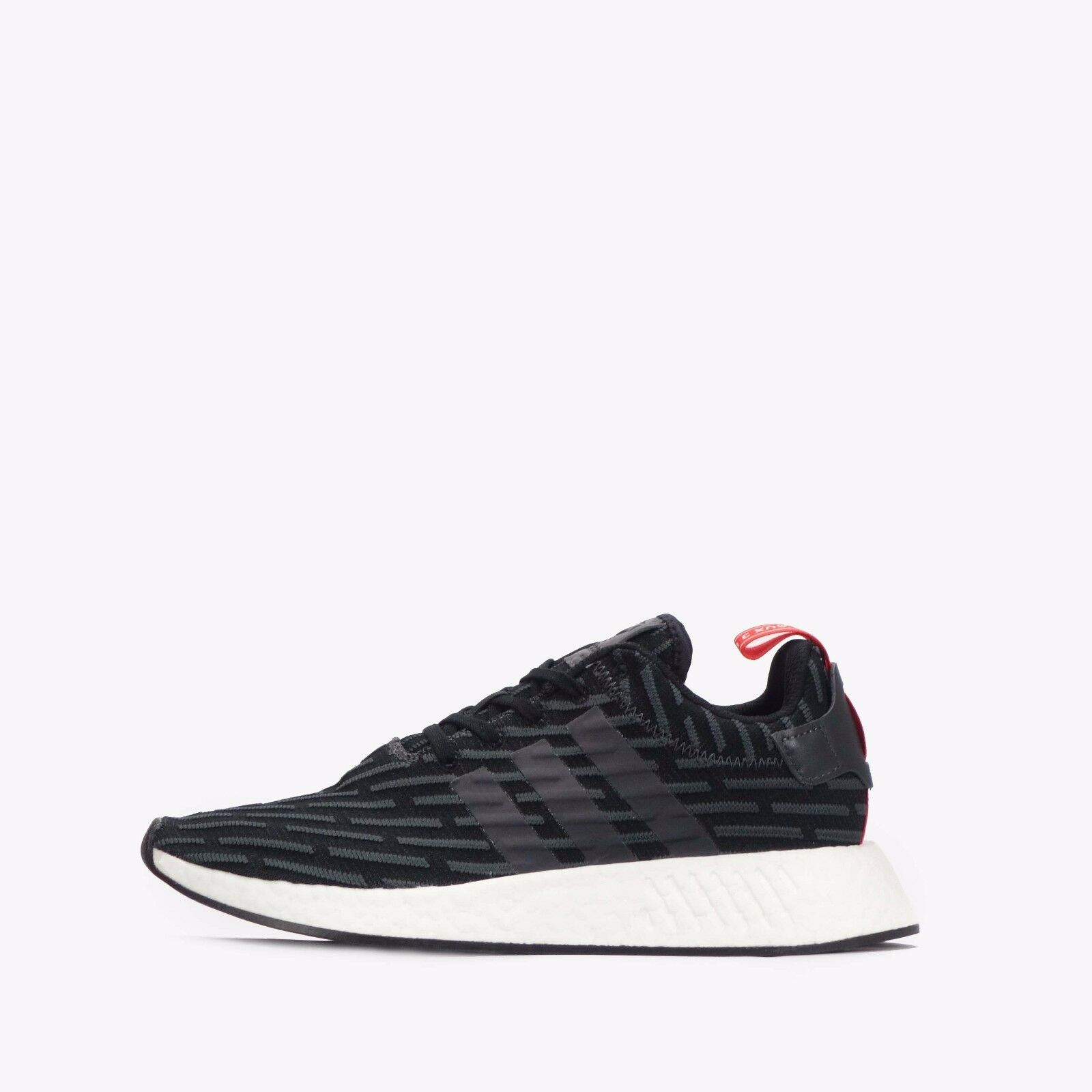Adidas NMD_R2 Chaussures Hommes Solide Gris-Blanc RRP £ 99.99