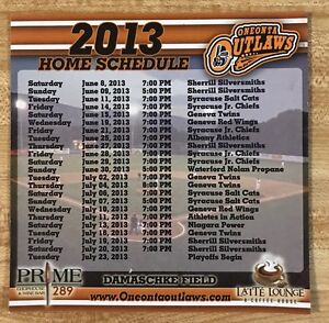Image is loading 2013-Oneonta-Outlaws-Baseball-Magnetic-Schedule