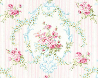 """COTTON DUVET COVER BEDSPREAD FABRIC ANTIQUE FLORAL ROSE DAMASK CANDY PINK 44/""""W"""