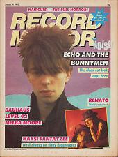 Ian McCulloch on Magazine Cover 29 January 1983  Haysi Fantayzee Bahaus Level 42