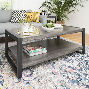 Walker Edison Angelo Home 48 Coffee Table In Charcoal