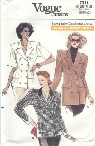 Vogue 7311 Misses/'//Miss Petite Jacket *Extremely Rare*  Sewing Pattern