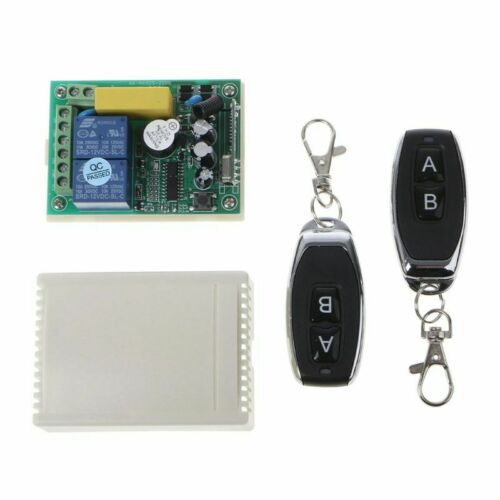 433Mhz Wireless Remote Control Switch 2CH AC250V 110V 220V Relay Receiver Modul