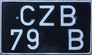 GENUINE-UK-British-Forces-in-Germany-Number-License-Licence-Plate-Tag-CZB-79-B