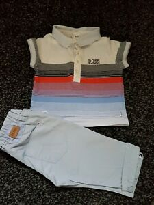 5a6bcb2702c0d Hugo Boss Outfit Set Jeans And Polo T Shirt Boys age 6 Months ...