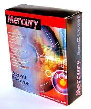 De tamaño completo Mercury Ps/2 3 botón Ball Mouse, rueda de desplazamiento, 1.2 m cable de conexión