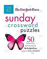 The New York Times Sunday Crossword Puzzles Volume 42: 50 Sunda... Free Shipping