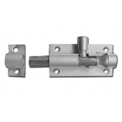 Bolt Lock 76 mm chrome idéal pour extérieur cabane de portes et portails