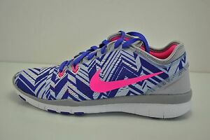 Womens Nike Free 5.0 TR FIT 5 PRT Running Shoes Size 6 White Purple ... 126825276