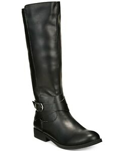 9a540ea4a0ef Style   Co Women s Madixe Wide Calf Riding Boots Size 8.5M Black