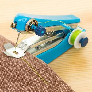 Портативный умный рукоделия беспроводной мини ручные одежды швейная машина для ткани