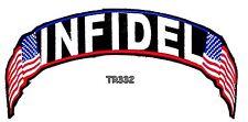 Infidel Banner Top Rocker for Biker Motorcycle Vest Jacket Back Patch TR332