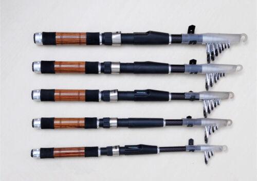 Black Telescopic Carbon Fiber Fly Fishing Rod Lure Fish Pole Ultra Short Black