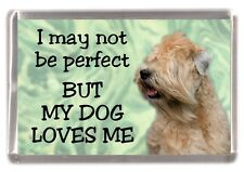 """Soft Coated Wheaten Terrier Fridge Magnet """"I may not be perfect .."""" by Starprint"""