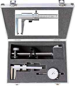 Magnet-Messstativ-mit-Messuhr-und-Bremsscheibenmessschieber-im-Alukoffer-NEU-OVP