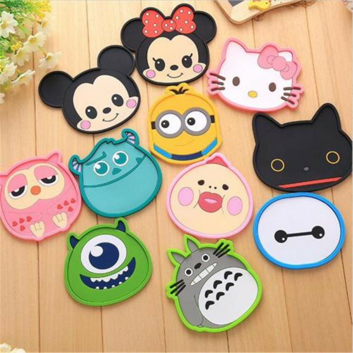 1Pcs Cartoon Coasters Silicone Placemat Cushion Mug Tableware Cup Tea Pad Mat