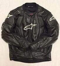 ALPINESTARS RC-1 Motorcycle Motorbike Bike Black Leather Jacket Size EU 50 UK 40
