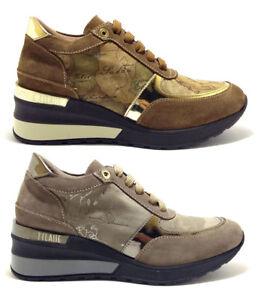 ALVIERO-MARTINI-1-CLASSE-sneaker-geo-crossing-scarpe-donna-pelle-camoscio-zeppa