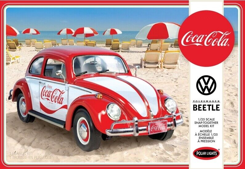 Polar Lights 1 25 Coca Cola Volkswagen Beetle (Snap Together)