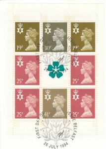 (83133) GB Used Northern Ireland Booklet Pane 1994 ON PIECE