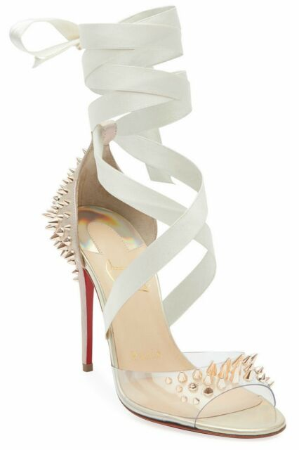 Christian Louboutin Impera Lace Up Red Sole Pump Black 37 100MM   eBay