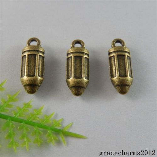 28x Vintage Bronze Alloy Bullet Bomb Shape Charms Pendants Crafts Findings 50801
