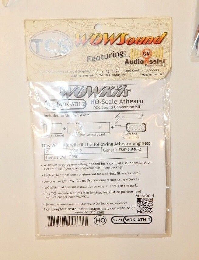 TCS WDK-ATH-2 WOWKit HO Scale Athearn Genesis Diesel DCC Sound Decoder NEW