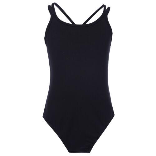 UK Girls 2-Piece Sport Dance Outfit Crop Top Booty Shorts Gym Leotard Swimwear