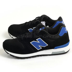 f20446e549a4 New Balance ML565KBW D Black & Royal Blue & White Classic Retro ...