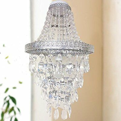 Easy Fit Chandelier Style Ceiling Pendant Light Shade Acrylic Beads Lighting