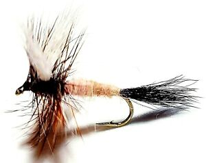 Ausable Wulff Dry Flies - 12 Flies - Size 8 Fly Fishing Flies